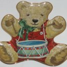 Little Drummer Bear Teddy Shape Collector Plate Franklin Mint Retired Great Gift