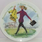 D'Arceau Limoges Woman Century 1960 Fashion Collector Plate Independent Vintage