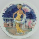 D'Arceau Limoges Woman Century 1935 Fashion Collector Plate Sudectress Vintage
