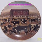 American Folk Art Collector Plate Spring Pasture Franklin Mint Farmland