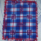 New York Giants Baby Blanket Plaid Hand Tied Fleece Pet Lap NFL Football Gift