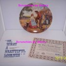 Oklahoma Plate Collector Beautiful Morning Plate Bradford Exchange Retired