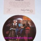 Norman Rockwell Collector Plate Evening's Ease Bradford Exchange Vintage Retired