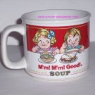 Campbells Kids Mug Soup Ceramic Coffee Mm! Mm! Vintage Retired1993