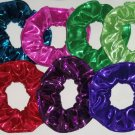 Glitter Knit Metallic Hair Scrunchies Choose Colors