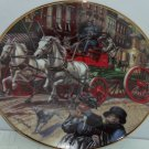 Fire Truck Museum Collector Plate Horse Sutherland Steam Pumper  Franklin Mint
