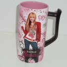 Disney Store Hannah Montana Miley Cyrus Rock Star Tall Pink Black Coffee Mug