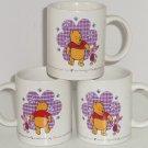 3 Disney Winnie Pooh Piglet Coffee Mugs Mug Cup Coming Going Retired