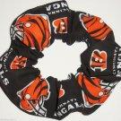 Cincinnati Bengals Fabric Hair Scrunchies Ties NFL Football  Black Orange