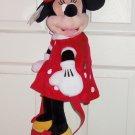 Disney Minnie Mouse Plush Backpack Kids Red Polka Dot Dress Theme Parks NWTS