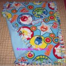 M&M's Candy Blue Red Yellow Green on Blue Fleece Baby Pet Lap Blanket  M&M