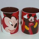 Disney Store Mickey Mouse Coffee Mug Brown  Red Big Cup New Retired