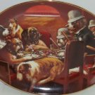 Dogs Playing Poker Plate Collector Collie Bulldog Game Over Franklin Mint