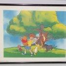 Disney Picture Winnie Pooh Tigger Piglet Eeyore Tree Day Time Framed Print