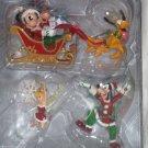 Disney Theme Park Ornament Set Tinker Bell Mickey Minnie Pluto Goofy Theme Parks