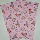 2 Raggedy Ann & Andy Light Pink Terry Cloth Burp Cloths Baby Girl