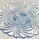 Cambridge Caprice Moonlight Blue Platter Plate Footed Vintage Depression Glass