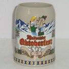 Budweiser Beer Stein 1991 Oktoberfest Anheuser Busch Vintage Mountains Snow