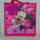 2 Disney Minnie Mouse Happy Birthday Reusable Shopping Tote Bags Gift Bags NEW