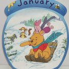 Disney Winnie Pooh Tigger Piget Collector Plate January Bradford Exchange