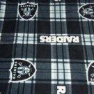 Oakland Raiders Baby Blanket Plaid Pewter Black Fleece Pet Dog Lap NFL Football