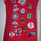 American League MLB Red Jersey Patch Dress Yankees Red Sox Baseball Rays Indians
