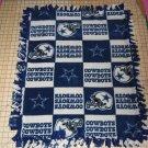 Dallas Cowboys Fleece Blanket Football Patchwok Hand Tied  Baby Pet Lap NFL