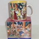 Disney Store Snow White Seven Dwarfs Coffee Mug Cup Retired Dopey Doc Sleepy
