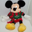 Disney Store Mickey Mouse Christmas Plush Toy Exclusive Original 2009 Retired