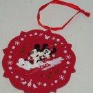 Disney Minnie Mickey Mouse Sled Ornament Holiday Tree Theme Parks New