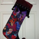Disney Villains Scar Captain Hook Jafar Christmas Stocking Theme Parks