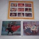 Walt Disney Legend Sleepy Hollow Animated Film Postage Stamps S Vincent 3 Sheets