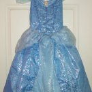 Disney Cinderella Dress Costume Princess Fancy  Theme Park Size Med 7/8