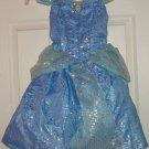 Disney Cinderella Dress Costume Princess Fancy  Theme Parks Size S 6/6X