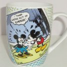 Disney Mickey Minnie Mouse Coffee Mug Comic Out of Cheese Walt Question Mark