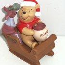 Disney Winnie the Pooh Roo Sleigh full presents Hearts full love Santa Figurine