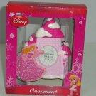 Disney Princess Ornament Sleeping Beauty Pink Photo Frame Castle Christmas New