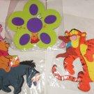 3 Disney Pooh Tigger Eeyore Piglet Wall Decor Foam Decorations Kids Playroom NIP