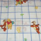 Disney Winnie Pooh Tigger Twin Sheet Fitted Flat Top White Blue Single Bed Kids