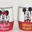 2 Disney Store Mickey Minnie Mouse Tea Coffee Mugs Red White Mug Retired Vintage