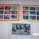 Walt Disney Peter & the Wolf Animated Film Postage Stamps Maldives 3 Sheets