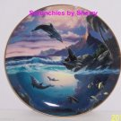 Dolphin Kisses Collectors Plate Bradford Exchange Sealife Ocean Retired Vintage