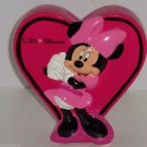 Disney Minnie Mouse Coin Money Bank Ceramic Hot Pink Heart Great Gift New