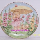 Puddle Pals Girl Kitty Rain Blessed Are Ye Collector Plate Danbury Mint Retired