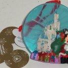 Disney Cinderella Castle Santa Mickey Light Up Ornament Christmas Theme Parks