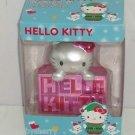 Hello Kitty Ornament Christmas Tree Holiday Pink Silver Metallic Hang Stand