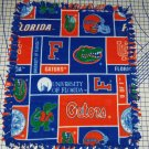 Florida Gators Orange Blue Patchwork Hand Tied Fleece Baby Pet Dog Lap Blanket