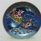 Looney Tunes Collector Plate What's Up Santa Franklin Mint Bugs Bunny Vintage