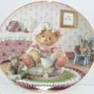Cherished Teddies Collector Plate Little Miss Muffet Teddy Bear Vintage Hamilton