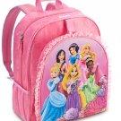 Disney Store Princess Backpack Book Bag Back to School Pink Belle Ariel Jasmine